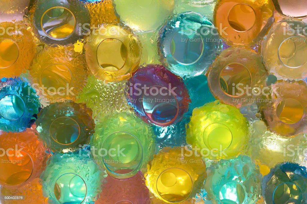 colored gel balls  closeup stock photo
