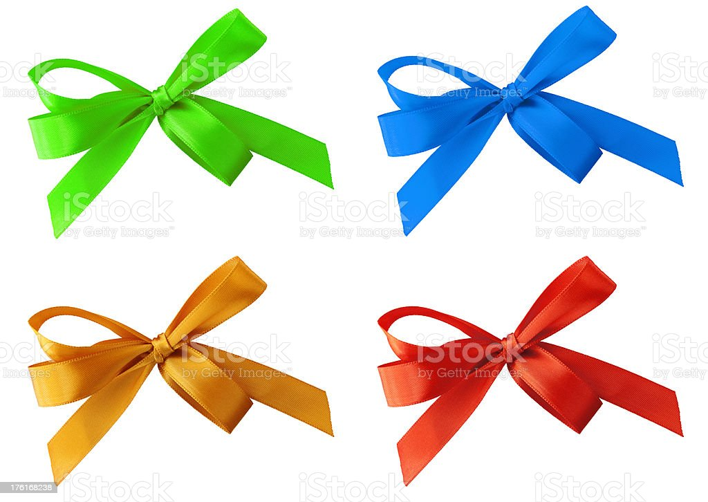 Colored Gift Bows royalty-free stock photo