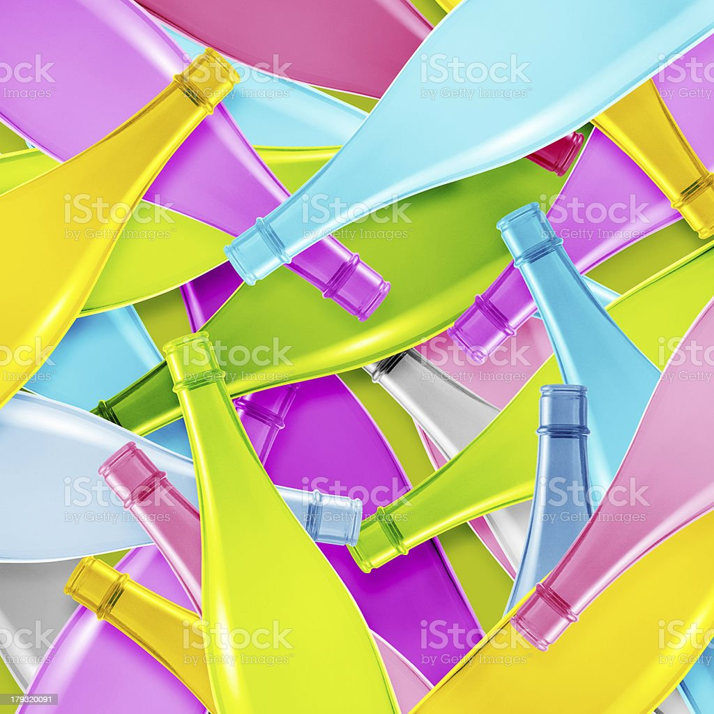Colored glass bottle royalty-free stock photo