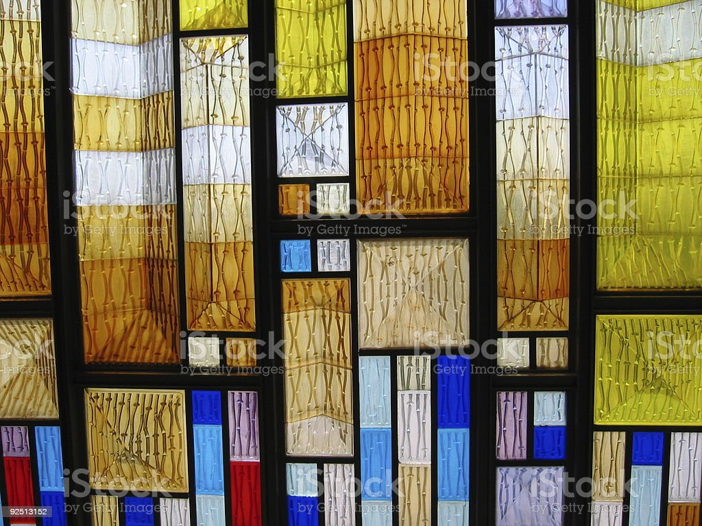 Colored Glass Wall royalty-free stock photo