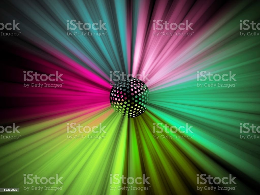 Colored globe light effect royalty-free stock photo