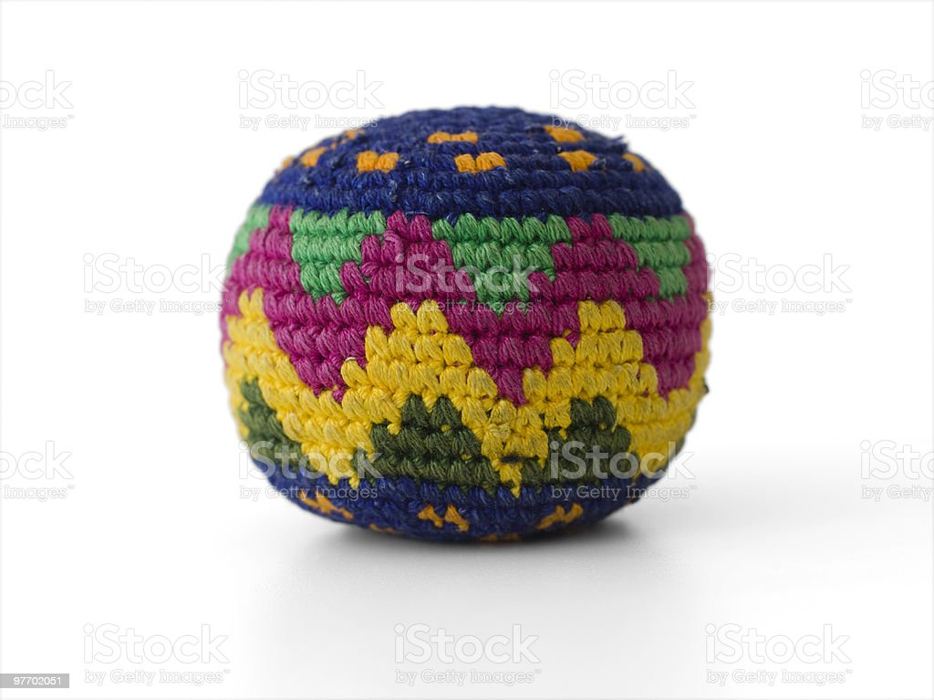 colored Hacky Sack stock photo