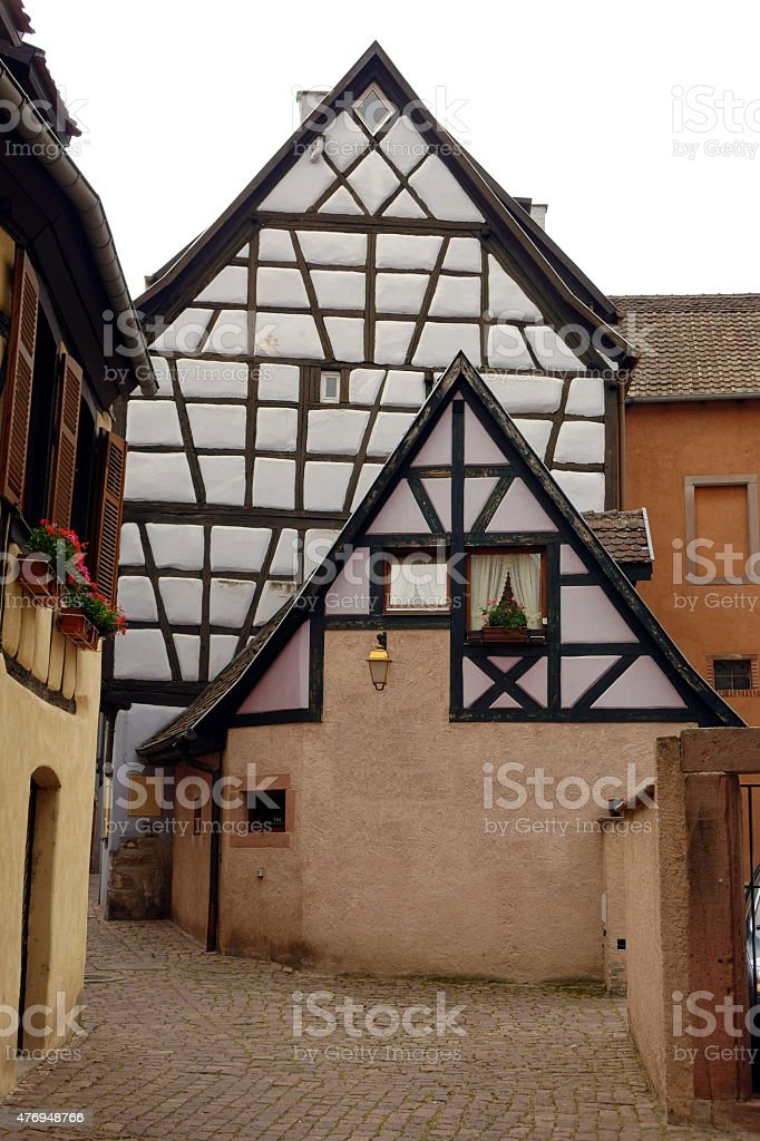 colored half-timbered houses stock photo