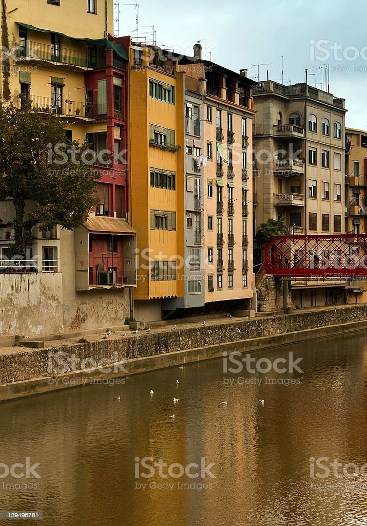 Colored houses royalty-free stock photo
