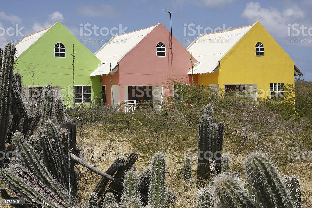 Colored houses # 5 XL royalty-free stock photo