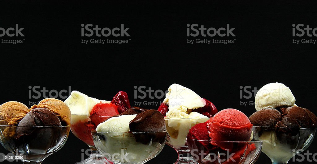 colored ice cream stock photo