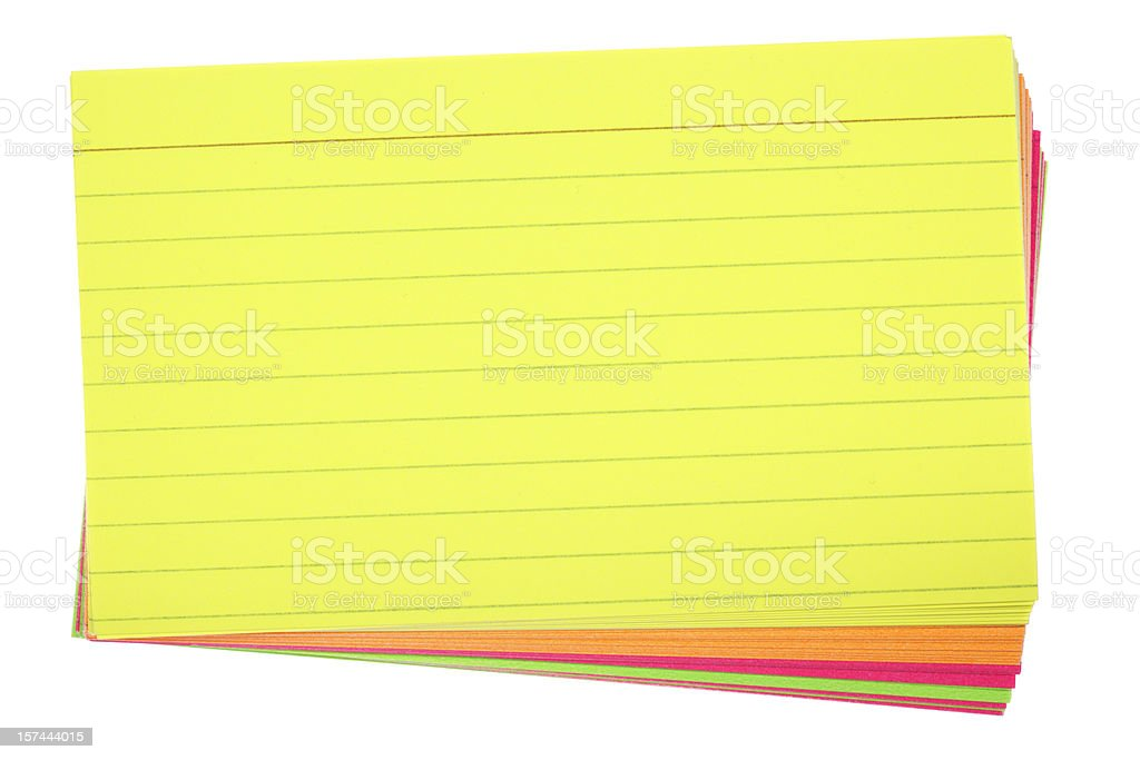 Colored Index Cards stock photo