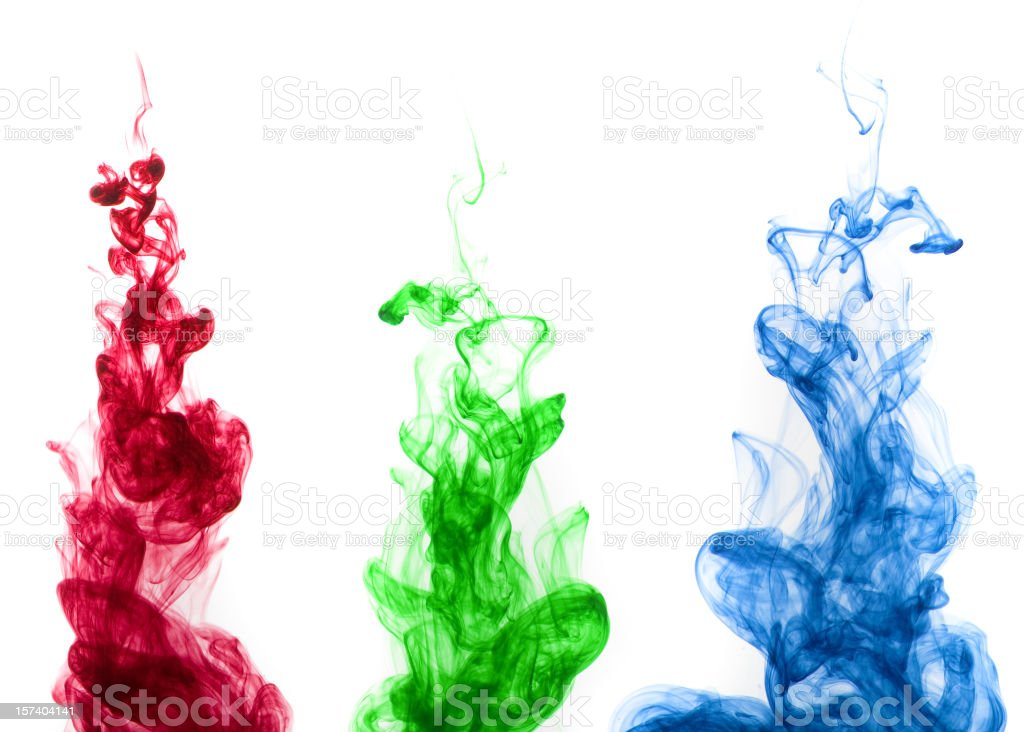 Colored ink drop stock photo