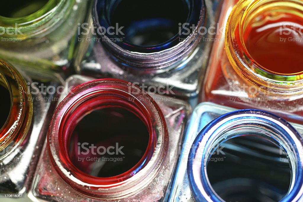 colored ink glasses royalty-free stock photo