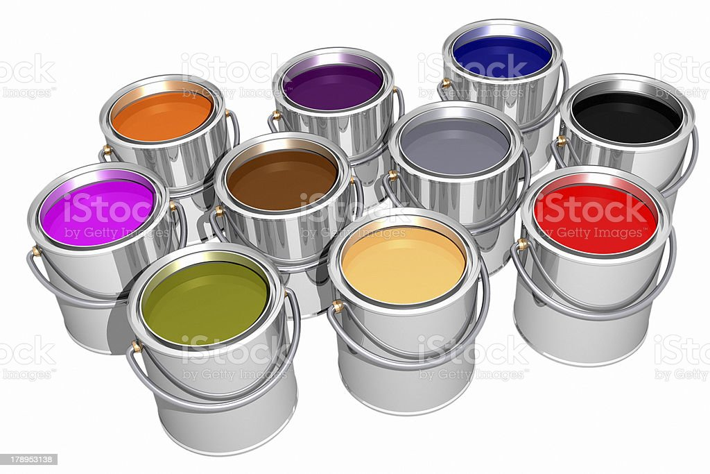 Colored inks (3D) royalty-free stock photo
