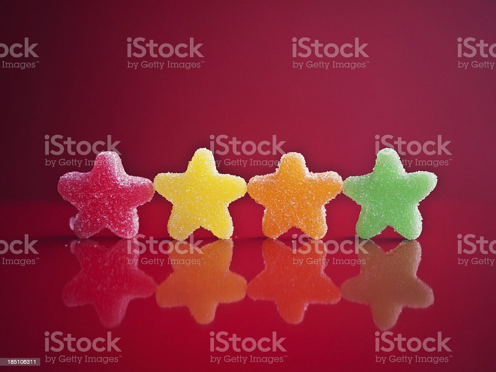 colored  jelly candys stock photo