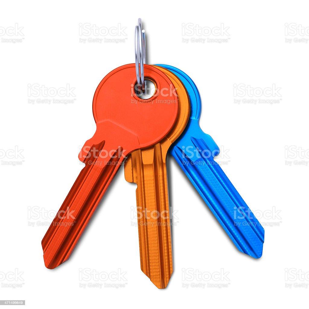 Colored keys stock photo