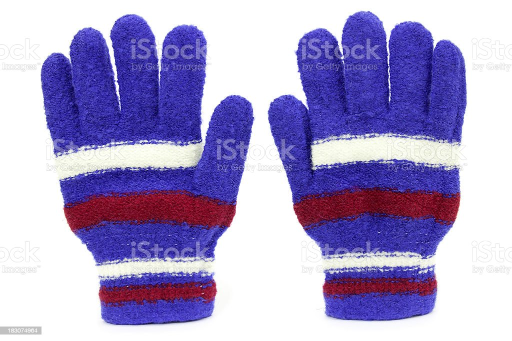 Colored knitted gloves royalty-free stock photo
