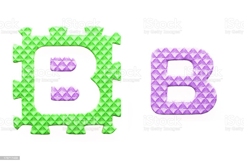 Colored letters B alphabet for children royalty-free stock photo
