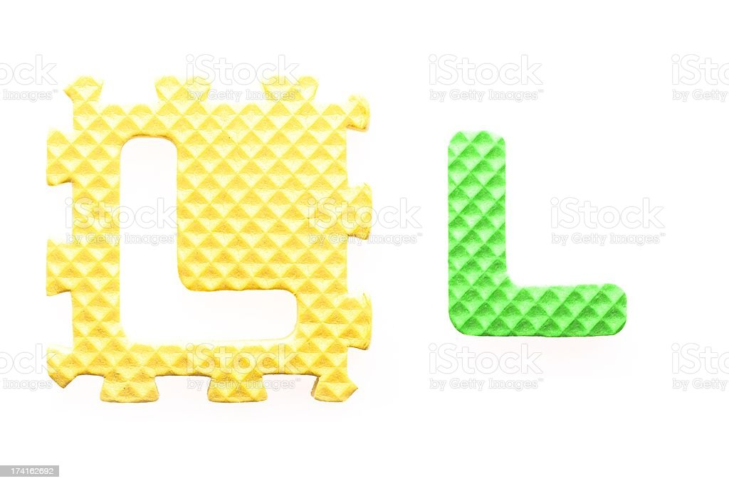 Colored letters L alphabet for children royalty-free stock photo
