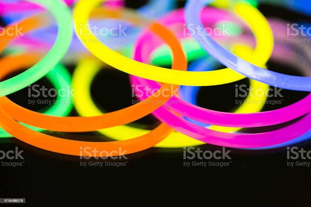 colored lights fluorescent neon stock photo