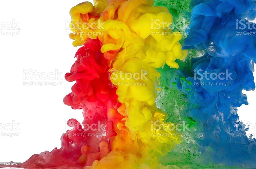 colored liquid stock photo