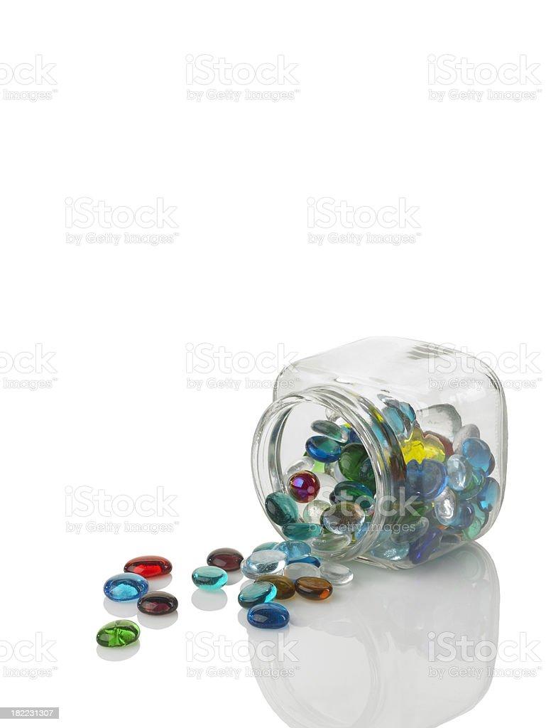 Colored Mancala Beads stock photo