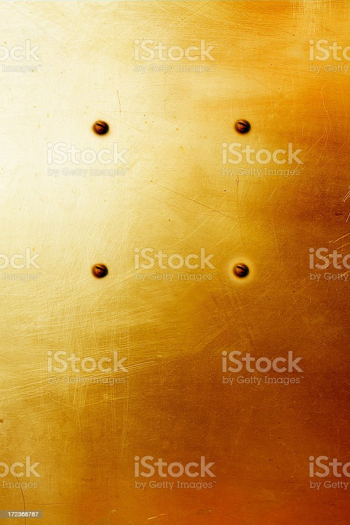 colored metal plate with circled bolts royalty-free stock photo