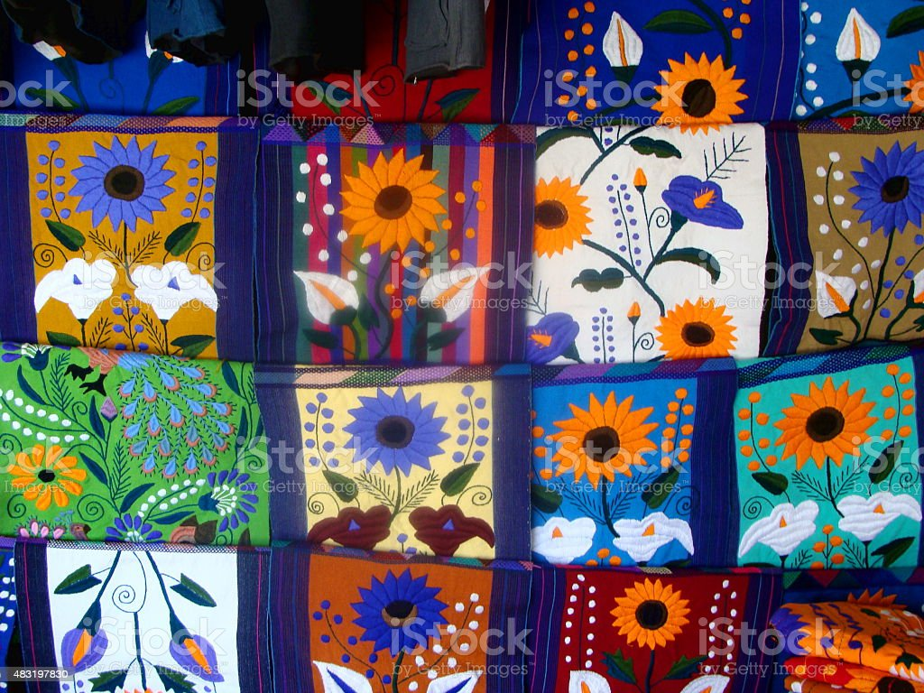 Colored Mexican Tapestry stock photo