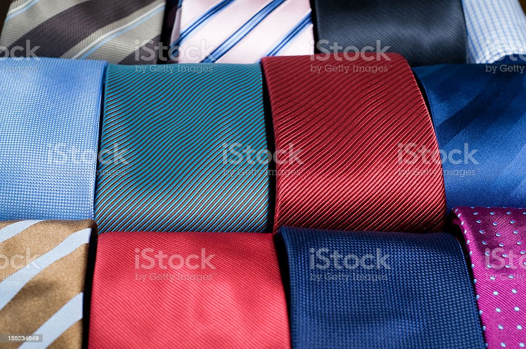 Colored neckties royalty-free stock photo