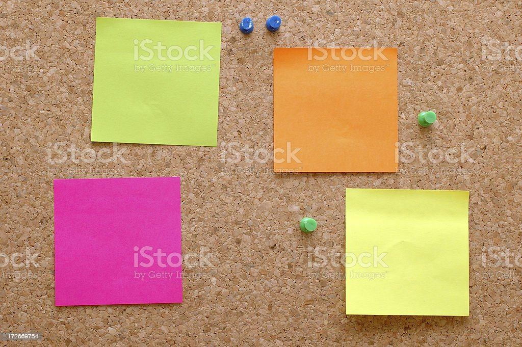 colored notes royalty-free stock photo
