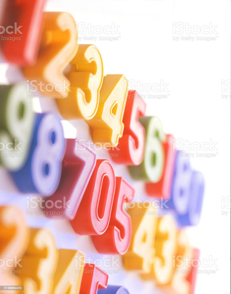 colored numbers stock photo