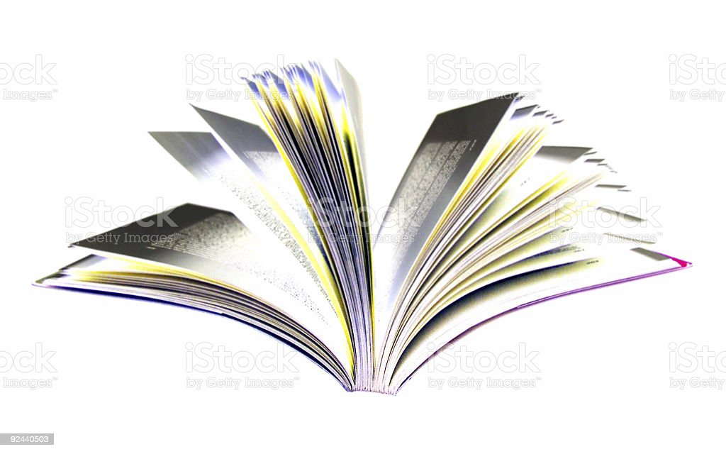 colored open book royalty-free stock photo