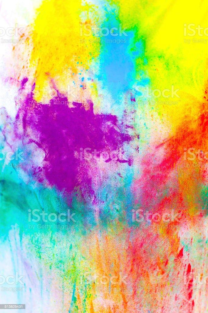 Colored paint holi stock photo
