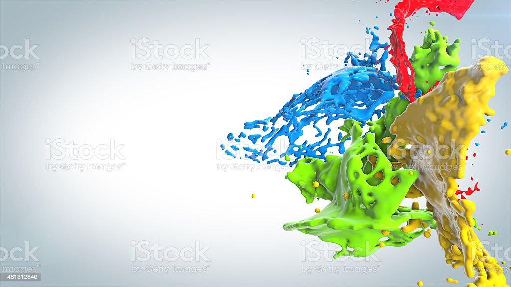 Taches de peinture de couleur photo libre de droits