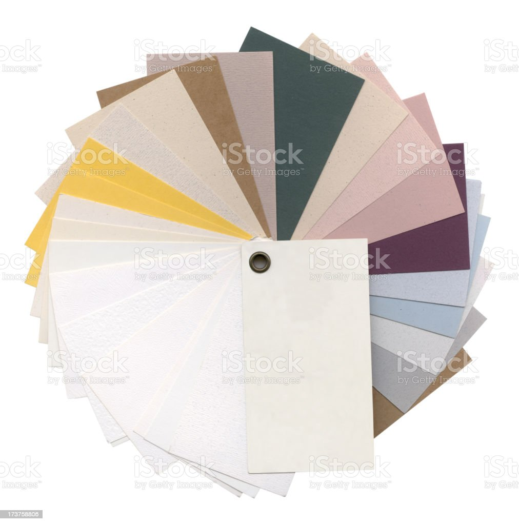 Colored Paper Samples stock photo