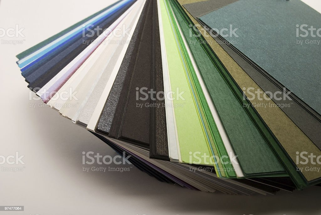 Colored papers royalty-free stock photo
