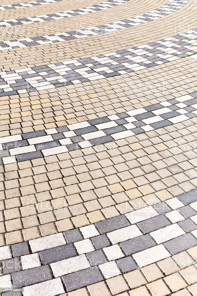Colored pavement royalty-free stock photo