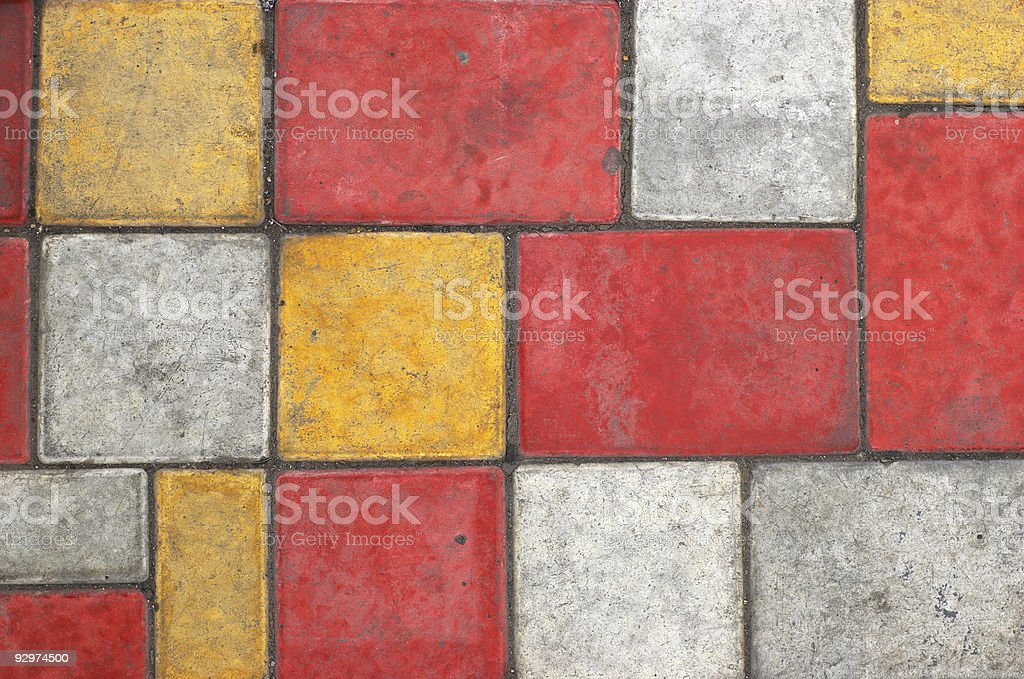 Colored paving slab texture #3 royalty-free stock photo