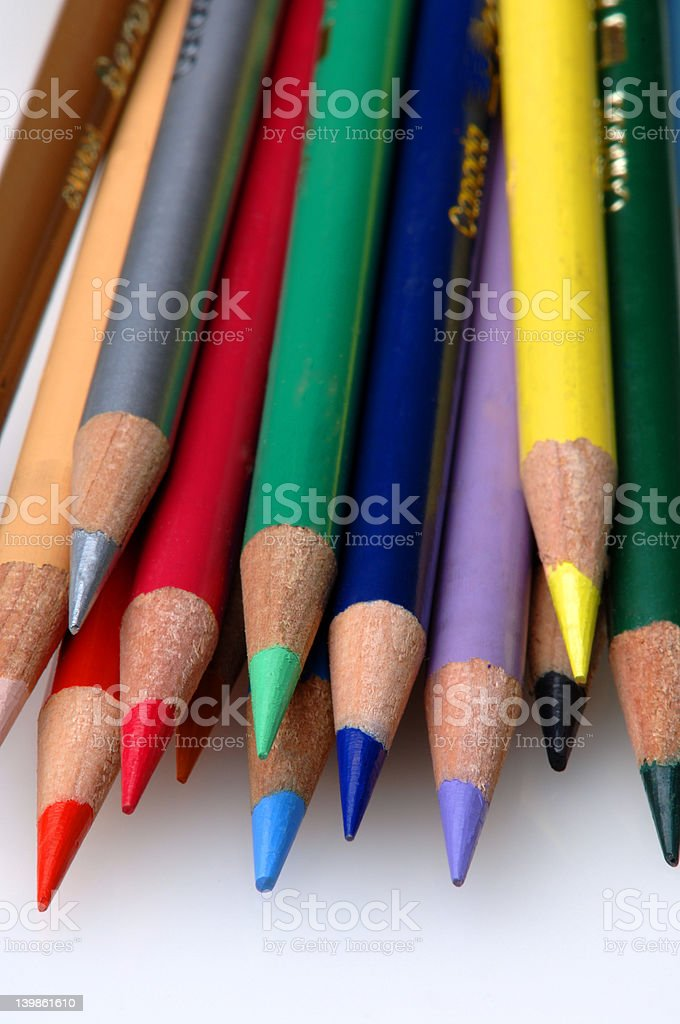Colored pencils 2 royalty-free stock photo