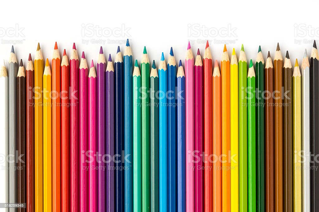 Colored Pencils 2 stock photo