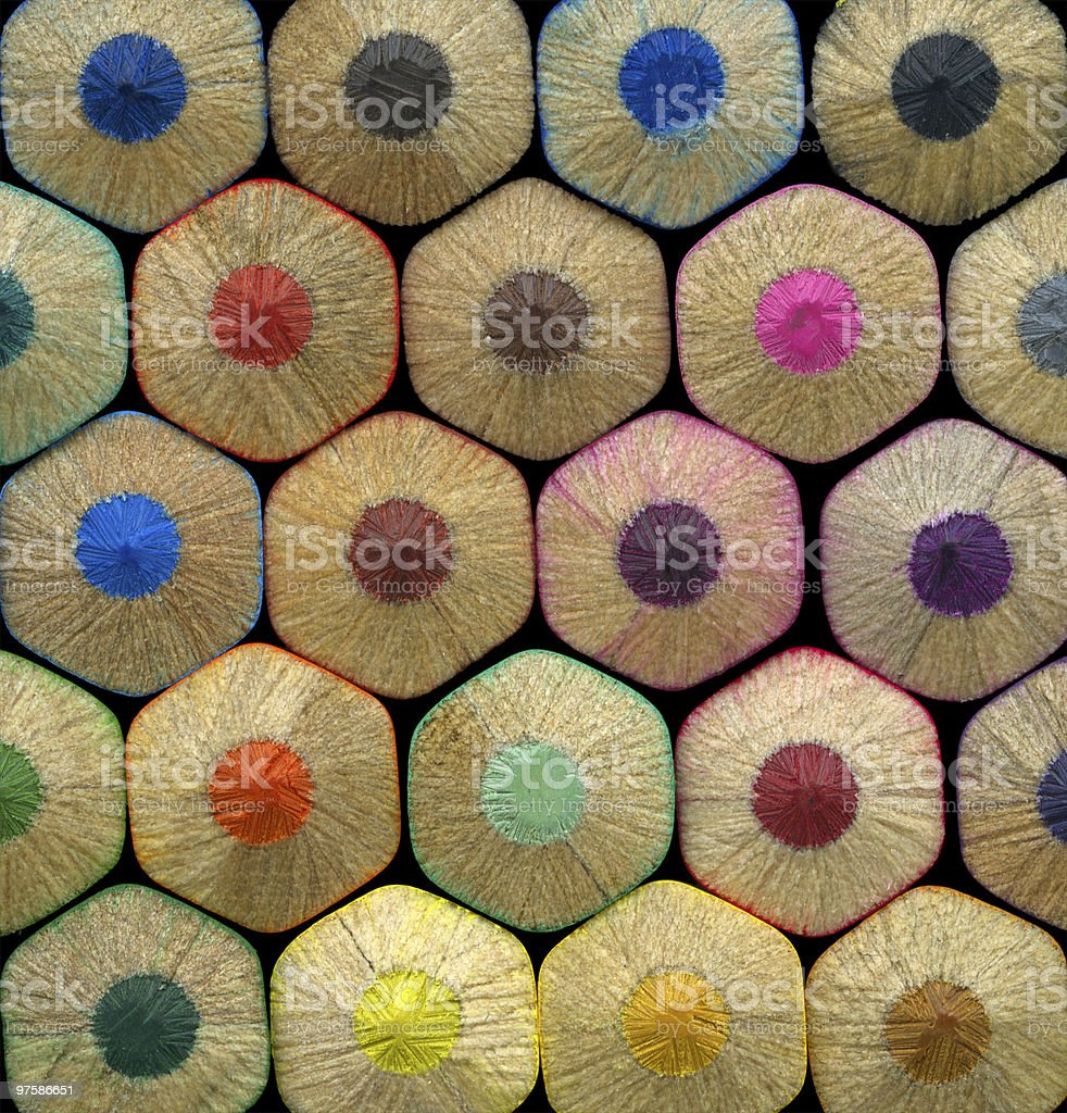 Colored pencils background royalty-free stock photo