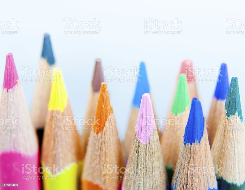 Colored Pencils from Below royalty-free stock photo