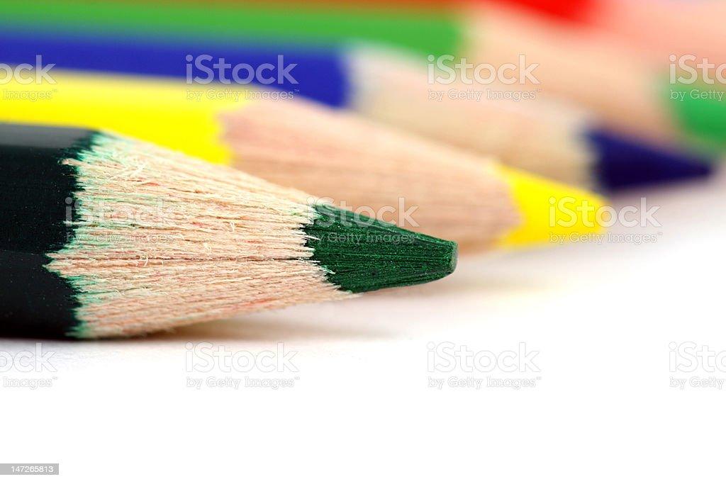Farbige Buntstifte Lizenzfreies stock-foto