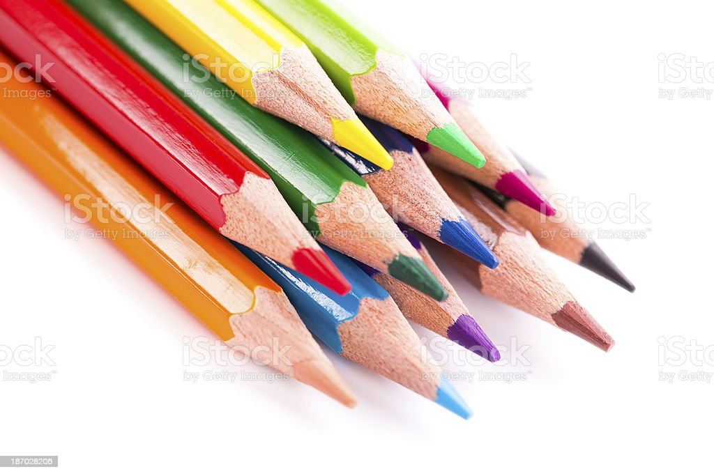colored pencils royalty-free stock photo