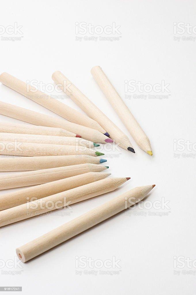 Crayons de couleurs photo libre de droits
