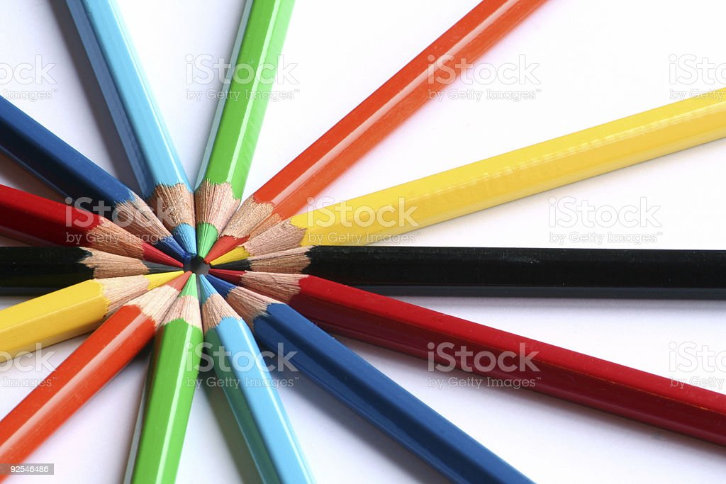 Colored pencils (4) royalty-free stock photo