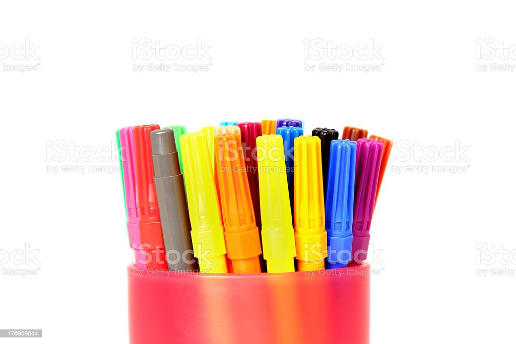 Colored pens royalty-free stock photo