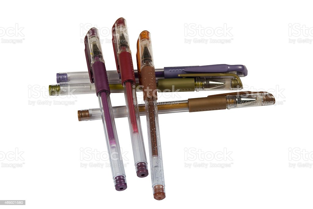 colored pens stock photo