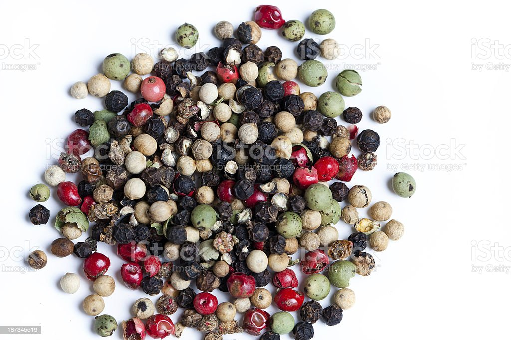Colored Peppercorns royalty-free stock photo