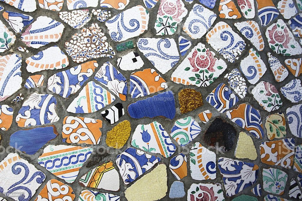 Colored pieces of ceramics,background royalty-free stock photo