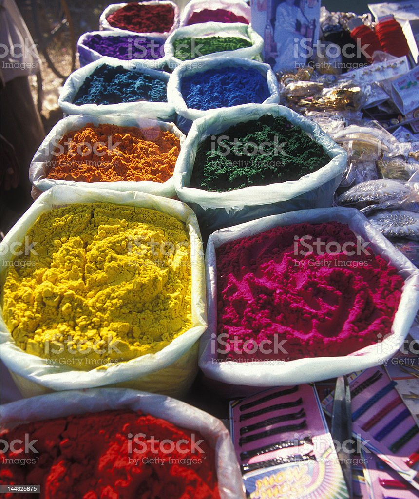 Colored Pigment royalty-free stock photo