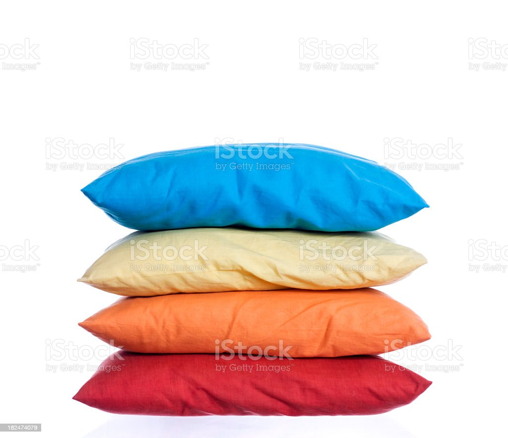 Colored pillows for sleeping and fun royalty-free stock photo