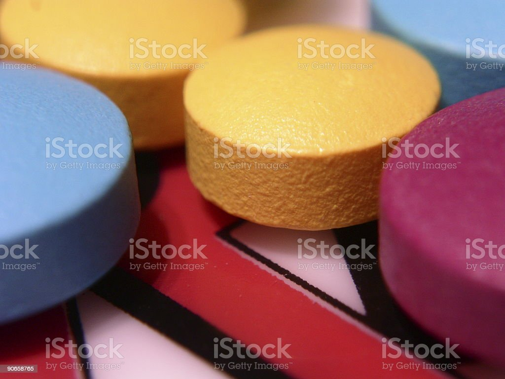 Colored pills B royalty-free stock photo