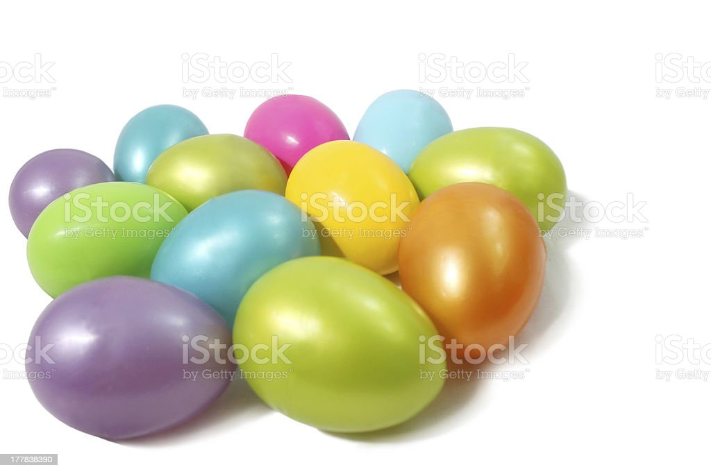 Colored Plastic Eggs stock photo